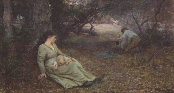 on-the-wallaby-track-by-frederick-mccubbin-1896